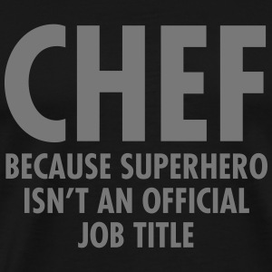 Chef - Superhero T-shirts - Herre premium T-shirt