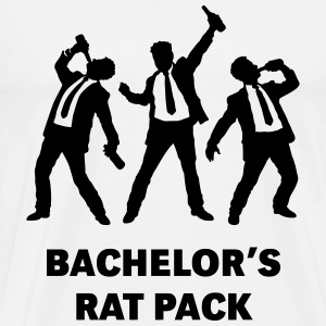 Bachelor's Rat Pack (Stag Party Groom Team / Illu) T-Shirts - Men's Premium T-Shirt