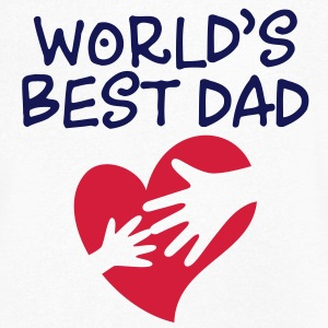 Best Father of the World T-Shirts - Men's V-Neck T-Shirt