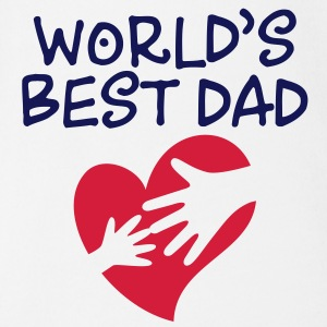 Best Father of the World Shirts - Organic Short-sleeved Baby Bodysuit