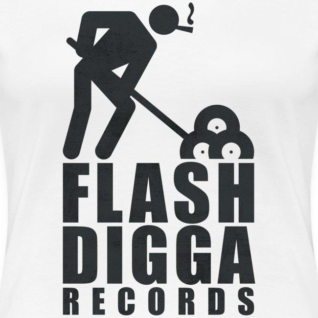 Flashdigga Shirt Schwarz/Weiss