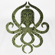 Motiv ~ Tintenfischwurst Shirt Grün/Weiss