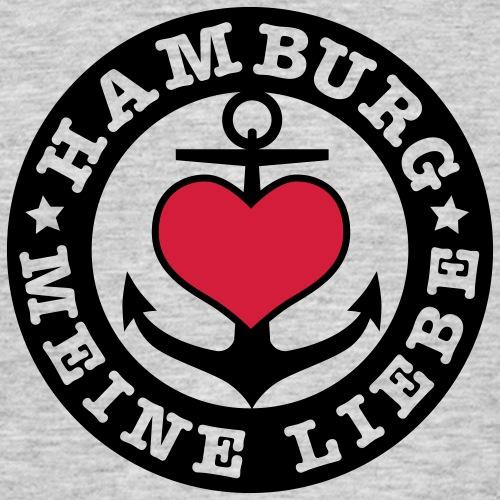 Hamburg meine Liebe Herz auf Anker 2c