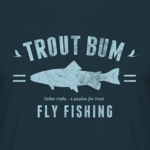 trout bum blue - T-shirt herr