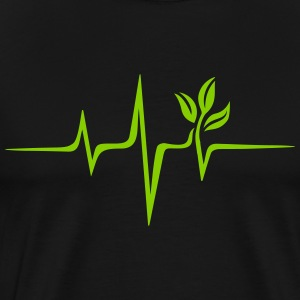 Pulse green, vegan heartbeat frequency, save earth - Herre premium T-shirt