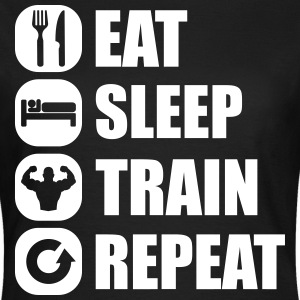 eat_sleep_train_repeat_8_1f T-shirts - T-shirt dam