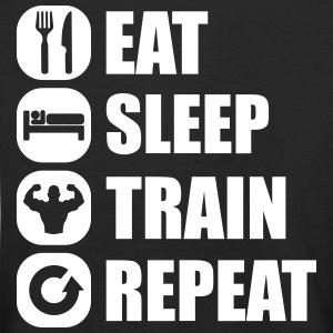 eat_sleep_train_repeat Langarmshirts - Kinder Premium Langarmshirt