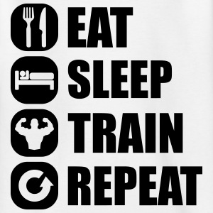 eat_sleep_train_repeat_8_1f Shirts - Teenage T-shirt