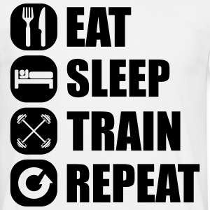 eat_sleep_train_repeat_7_1f T-shirts - T-shirt herr