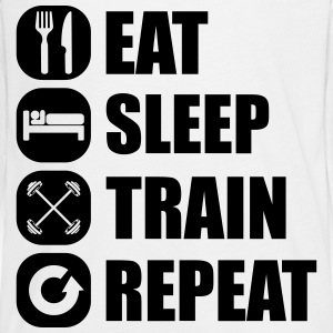 eat_sleep_train_repeat Langarmshirts - Teenager Premium Langarmshirt