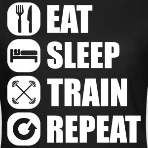 eat_sleep_train_repeat_7_1f T-Shirts - Women's T-Shirt