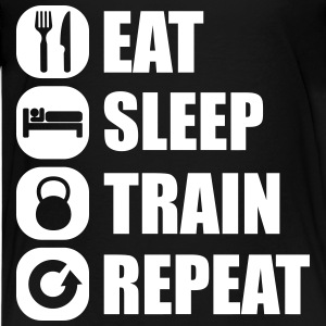 eat_sleep_train_repeat T-Shirts - Teenager Premium T-Shirt
