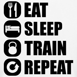 eat_sleep_train_repeat Langærmede shirts - Børne premium T-shirt med lange ærmer