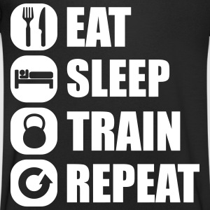 eat_sleep_train_repeat Tee shirts - T-shirt Homme col V
