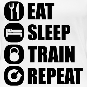 eat_sleep_train_repeat T-Shirts - Frauen Premium T-Shirt
