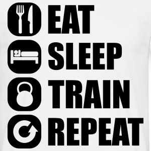eat_sleep_train_repeat_6_1f T-shirts - T-shirt herr