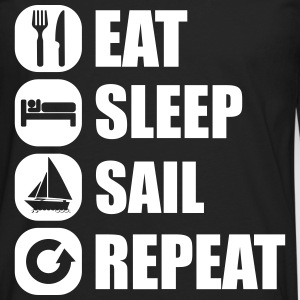 eat_sleep_sail_repeat_12_1f Shirts met lange mouwen - Mannen Premium shirt met lange mouwen