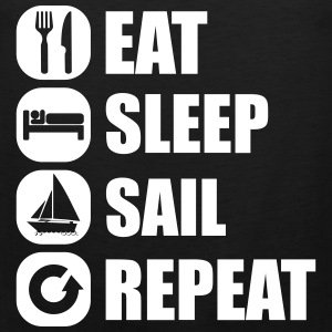 eat_sleep_sail_repeat_12_1f Tank Tops - Herre Premium tanktop