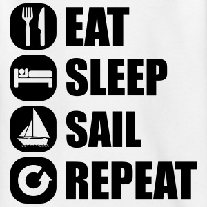 eat_sleep_sail_repeat_12_1f Camisetas - Camiseta adolescente