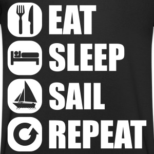 eat_sleep_sail_repeat_12_1f Tee shirts - T-shirt Homme col V