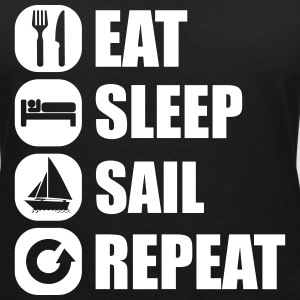 eat_sleep_sail_repeat T-Shirts - Frauen T-Shirt mit V-Ausschnitt