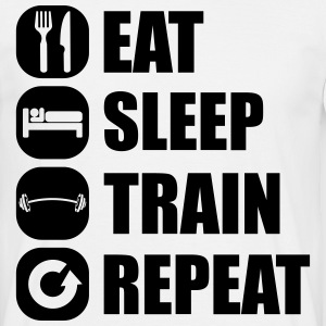 eat_sleep_train_repeat_4_1f Camisetas - Camiseta hombre