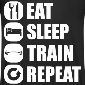 eat_sleep_train_repeat_4_1f T-shirts - T-shirt med v-ringning herr