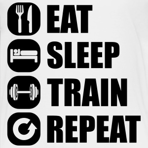 eat_sleep_train_repeat_2_1f Camisetas - Camiseta premium adolescente
