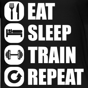 eat_sleep_train_repeat_2_1f Tee shirts - T-shirt Premium Ado