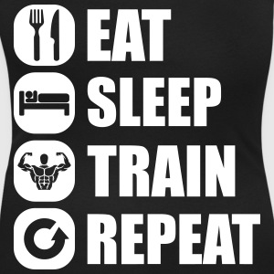 eat_sleep_train_repeat_1_1f T-Shirts - Women's Scoop Neck T-Shirt
