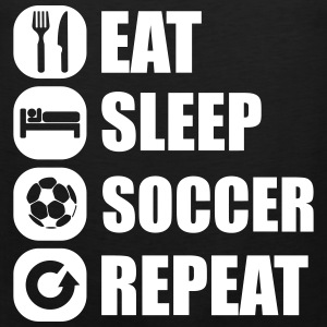eat_sleep_soccer_repeat Tank Tops - Herre Premium tanktop