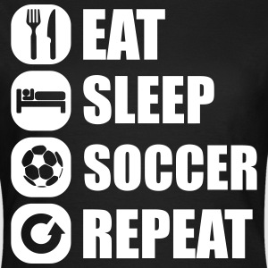 eat_sleep_soccer_repeat Camisetas - Camiseta mujer