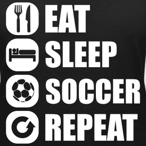 eat_sleep_soccer_repeat T-shirts - Vrouwen T-shirt met V-hals