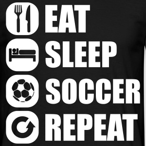 eat_sleep_soccer_repeat T-skjorter - T-skjorte for menn
