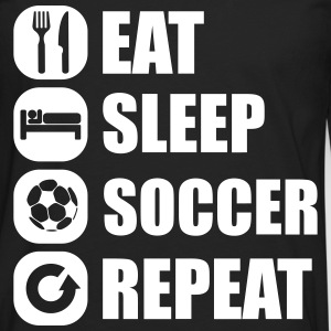 eat_sleep_soccer_repeat Skjorter med lange armer - Premium langermet T-skjorte for menn
