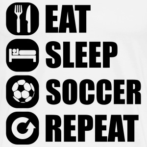 eat_sleep_soccer_repeat T-skjorter - Premium T-skjorte for menn