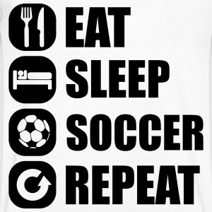 eat_sleep_soccer_repeat Camisetas - Camiseta de pico hombre