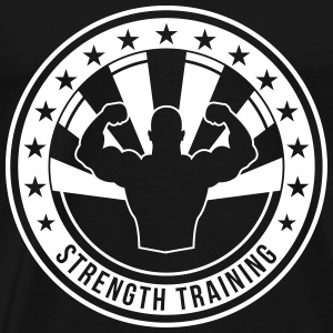 Strength Training - Bodybuilding Fitness  Muscle T-Shirts - Men's Premium T-Shirt