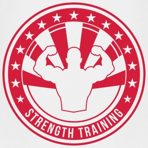 Strength Training - Bodybuilding Fitness  Muscle T-Shirts - Teenager Premium T-Shirt