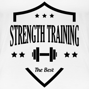 Strength Training - Bodybuilding Fitness  Muscle T-Shirts - Women's Premium T-Shirt