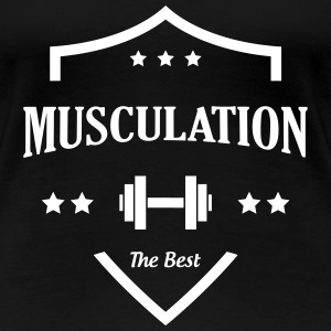 Musculation Fitness Force Sport Muscles Vintage T-Shirts - Women's Premium T-Shirt