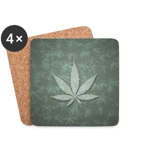 Hemp leaf Mugs & Drinkware - Coasters (set of 4)