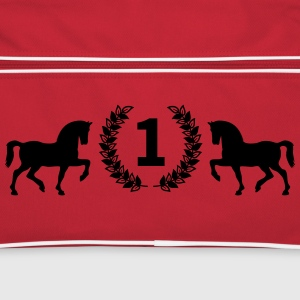 Horse wreath Bags & Backpacks - Retro Bag