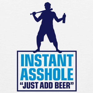Istant Asshole. Just add Beer! Tank Tops - Men's Premium Tank Top