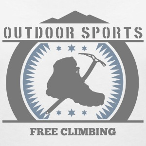 free climbing_2c T-Shirts - Women's V-Neck T-Shirt