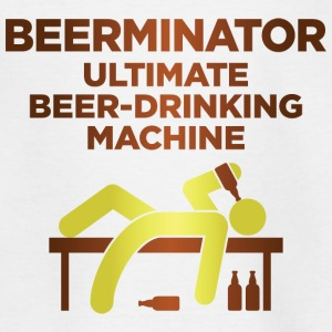 De Beerminator. Ultimate Drinking Machine! Shirts - Teenager T-shirt