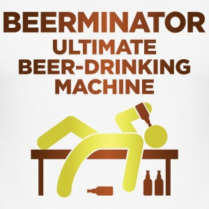 Den Beerminator. Ultimat dricka Machine! T-shirts - Slim Fit T-shirt herr