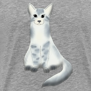 Large grey cat Tee shirts - T-shirt Premium Homme