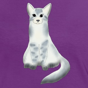 Large grey cat T-shirts - Vrouwen contrastshirt