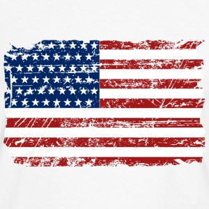 USA Flag - Vintage Look T-shirts - Mannen contrastshirt